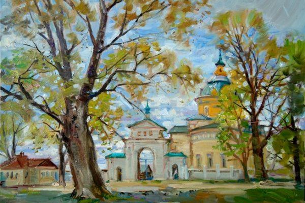 Латынцев-В.Н.-Вид-на-монастырь-в-Великорецком-х.-м.-45х60-2017г.